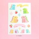Tyranno - PLEPLE Bubble dino removable decorative paper sticker