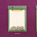 Green Flower - Ardium Color point A5 snap memo quadrille notepad