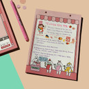Usage example - Ardium Color point A5 snap memo quadrille notepad