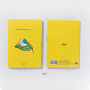 Leaf - DESIGN IVY Little Ggo Deung O small grid and lined notebook