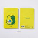 Avocado - DESIGN IVY Little Ggo Deung O small grid and lined notebook