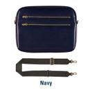 Navy - Always with me iPad tablet PC sleeve case cross bag