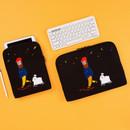 Moonwalker boucle canvas iPad laptop sleeve pouch case