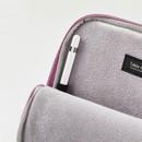 inner pen holder - Milk cat boucle canvas iPad laptop sleeve pouch case