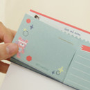 Perforated line - O-ssum standing memo notepad with perforated line