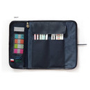 Navy - MINIBUS Dorothy & Alice roll up pencil case pouch