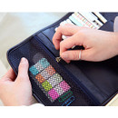 Mesh pocket - MINIBUS Dorothy & Alice roll up pencil case pouch