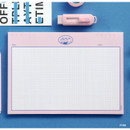 Pink - ICONIC Buddy B5 size grid notes memo notepad