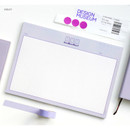 Violet - ICONIC Buddy B5 size grid notes memo notepad