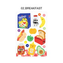 02 Breakfast - ICONIC Merry removable craft decoration sticker