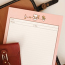 Letter - Annyang B5 size lined and grid notes memo notepad