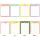 Option - Annyang B5 size lined and grid notes memo notepad