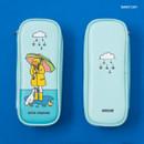 Rainy Day - Ardium Color point block zip pencil case pouch