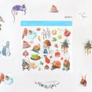 Alice 1 - Indigo Alice self-cut clear sticker