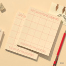 Beige - My routine keeper 1 month dateless weekly planner scheduler
