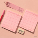 Pink - My routine keeper 1 month dateless weekly planner scheduler