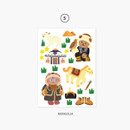 05 Mongolia - Project country my juicy bear removable sticker