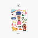 06 Korea - Project country my juicy bear removable sticker
