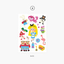 04 Alice - Project fairy tale my juicy bear removable sticker
