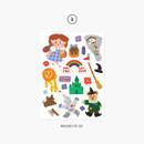 03 Wizard of OZ - Project fairy tale my juicy bear removable sticker