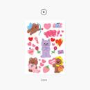 09 Love - Project basic my juicy bear removable sticker