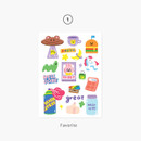 01 Favorite - Project basic my juicy bear removable sticker