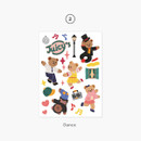 02 Dance - Project daily life my juicy bear removable sticker