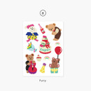 08 Party - Project daily life my juicy bear removable sticker