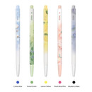 Color - MONAMI 153 Aroma knock retractable ballpoint pen set