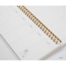 Jelly - DESIGN IVY Ggo deung o spiral dateless weekly desk planner