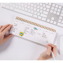 Usage example - DESIGN IVY Ggo deung o spiral dateless weekly desk planner