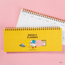 Jelly - DESIGN IVY Ggo deung o spiral dateless weekly desk planner