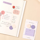 Yogurt - Dash and Dot And dots memo notes sticky notepad ver3