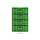Green neon - Wanna This Neon Number letter craft decoration sticker