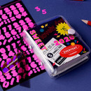 Usage example - Wanna This Neon Number letter craft decoration sticker