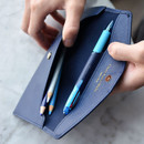Stores up to 15 pens - Play Obje Classy synthetic leather wallet pencil case