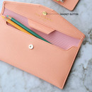 Magnet button closure - Play Obje Classy synthetic leather wallet pencil case