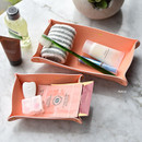 Peach - Play Obje 2way synthetic leather DIY tray set