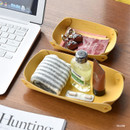 Yellow - Play Obje 2way synthetic leather DIY tray set