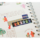 Usage example - Dailylike Jelly bear retro masking seal sticker set