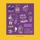 Fantasy Purple - Ardium Pop illustration colorful point paper sticker ver4