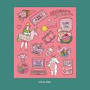 Joyful Pink - Ardium Pop illustration colorful point paper sticker ver4