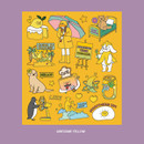 Awesome Yellow - Ardium Pop illustration colorful point paper sticker ver4