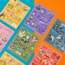 Ardium Pop illustration colorful point paper sticker ver4