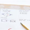 Usage example - O-CHECK Horizontal B5 study notes blank and grid notepad