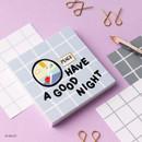 09 Night - Wanna This Crayon check 4 designs memo notes notepad