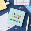 Wanna This Crayon check 4 designs memo notes notepad