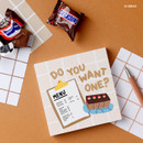 05 Bread - Wanna This Crayon check 4 designs memo notes notepad