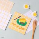 01 Freesia - Wanna This Crayon check 4 designs memo notes notepad