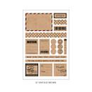 07 Vintage Brown - PLEPLE Pattern paper deco sticker set